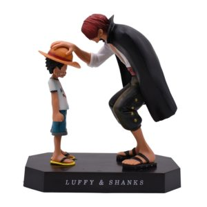 Figurine One Piece : Shanks & Luffy Chapeau de paille Statue. Manga